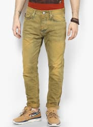 Mustard Yellow Slim Fit Jeans