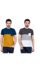 Stylogue Trendy T-shirts For Men (Pack of 2)