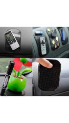 4 Pcs Anti Slip Car Dashboard Magic Mat Sticky Pad for Mobile Phone Key Wallet Hoder
