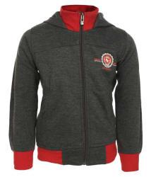 Haig-Dot Dark Grey Fleece Hooded Jacket For Boys
