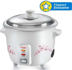 Prestige Delight PRWO Electric Rice Cooker with Steaming Feature (1.5 L, White)