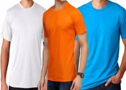 Pack of 3 Round Polyester T Shirt DISCOUNTED PRICE CHOOSE COMBO