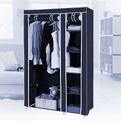 Fancy and Portable Foldable Closet/Cabinet Wardrobe Organizer With Shelves-Brown