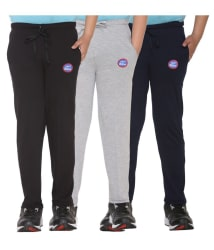 Vimal Multicolor Cotton Blended Trackpants For Boys - Pack Of 3