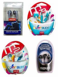 Details about  Maxell Stereo Earbuds / Earphones BUY 1 GET 3 FREE
