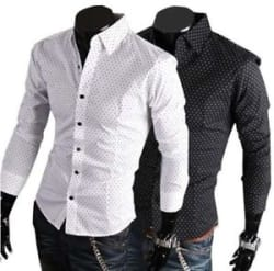 Details about  Popular Men s Dot Print Shirt Pack of one Pcs Three Color Available