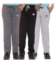 Vimal Multicolor Cotton Blend Comfortable Pack of 3 Trackpants For Boys