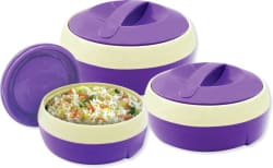 Princeware Solar Pack of 3 Casserole Set  (1500, 1000, 600)