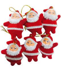 Priyankish Plastic Christmas Tree Decoration Red-(Pack of 6)