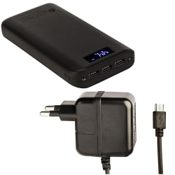 CallOne Mosaic power bank 20000 mAh with Mobking Travel Charger 2 Amp