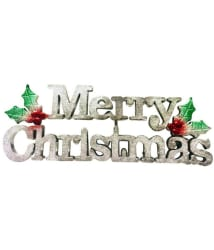 Priyankish Plastic Christmas Tree Decoration Silver-(Pack of 1)
