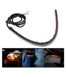Bikers World Universal Led Strip Brake Light With Turn Indicator Signals For Royal Enfield Classic 350