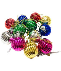 Priyankish Plastic Multicolour Christmas Tree Decoration-(Pack of 12)