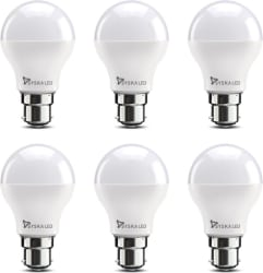 Syska Led Lights 9 W B22 LED Bulb (White, Pack of 6)