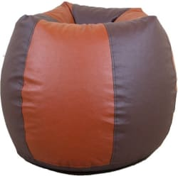 ORKA XL Bean Bag Cover (Without Beans) (Brown, Tan)