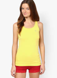 Yellow Solid Tank Top
