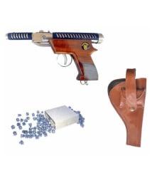 Prijam Air Gun HT-007 Model with Metal Body For Target Practice Combo offer 300 Pellets with Cover & Air Gun