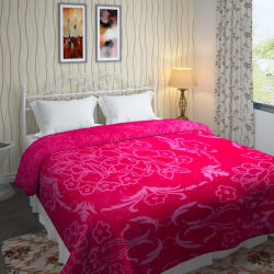 IWS Self Design Double Blanket Multicolor (Mink Blanket, Blanket)