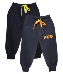 Finger s Multicolour Cotton Track Pants Set of 2