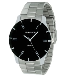 Grandson Silver Stainless Steel Chain Analog Watch For Boys