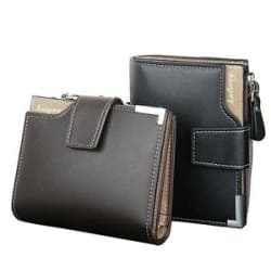 Details about New Baellerry Stylish Leather bi-fold Zipper Wallet Credit Card Holder for Men