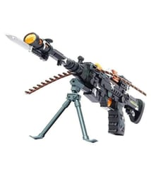 Beston Musical Army Style Toy Gun With Lights ( 55 cm Long )