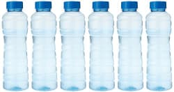 Princeware Victoria PET Fridge Bottle, 975 ml, Blue, Set of 6