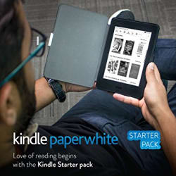 Kindle Starter Pack with Kindle Paperwhite WiFi E-Reader in Black (MRP Rs 10,999), NuPro SlimFit Cover for Kindle Paperwhite - Black (MRP Rs 1,299)