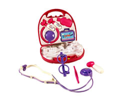 Toyhouse THSDPL5672A Doctor Set, Pink  (9 Pieces)