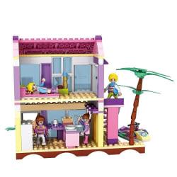 Saffire Dream Girls Beach Villa Building Set - 423 Pieces, multicolor