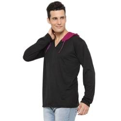 Rico Sordi Men s Full Sleeve Black Hoodie, l
