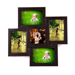 WENS 5-Picture MDF Photo Frame (17 inch x 17 inch, Brown)
