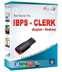Topic Wise Practice Test Paper For IBPS Clerk( ENGLISH) for full practice and assured results! Pen Drive