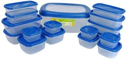 Princeware SF Packing Container, 17-Pieces, Blue
