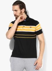Kings Black Striped Polo T-Shirt