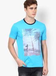 Blue Round Neck T-Shirt