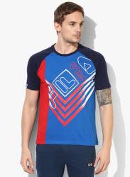 Chad Blue Round Neck T-Shirt