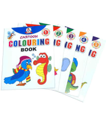Cartoon Colouring Collections Set of 5