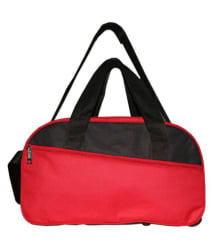 N Choice Red Solid Duffle Bag