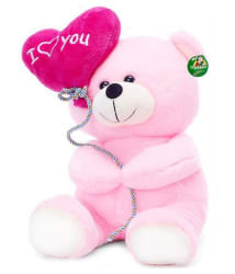 Tickles Pink I Love You Balloon Heart Teddy(30 cm)