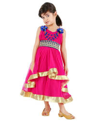 Tiny Toon Pink Sleeveless Party Wear Dress