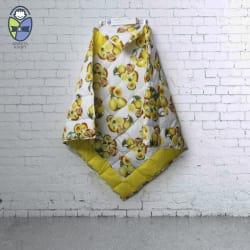 Kradyl Kroft Orange Cotton Baby Blanket ( 106 cm × 106 cm- 1 pcs)