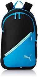 Puma 17 Ltrs Black-Light Blue Casual Backpack (7512101)