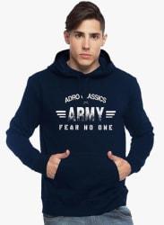 Navy Blue Printed Sweatshirt