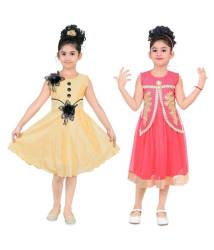 STYLOKIDS TUSSER AND TOMATO PARTY WEAR FROCK