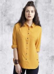 Mustard Yellow Solid Shirt