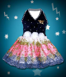 Cute Fashion Kids Girls Baby Princess Velver and Net Party Wear Flower Dresses Clothes 3 - 24 Months