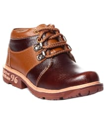 Trilokani Brown Boots for Kids