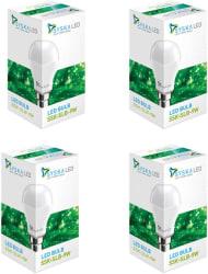 Syska 9 W Standard B22 LED Bulb (White, Pack of 4)
