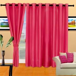 Cortina Plain Crush 9Ft Curtain, coffee